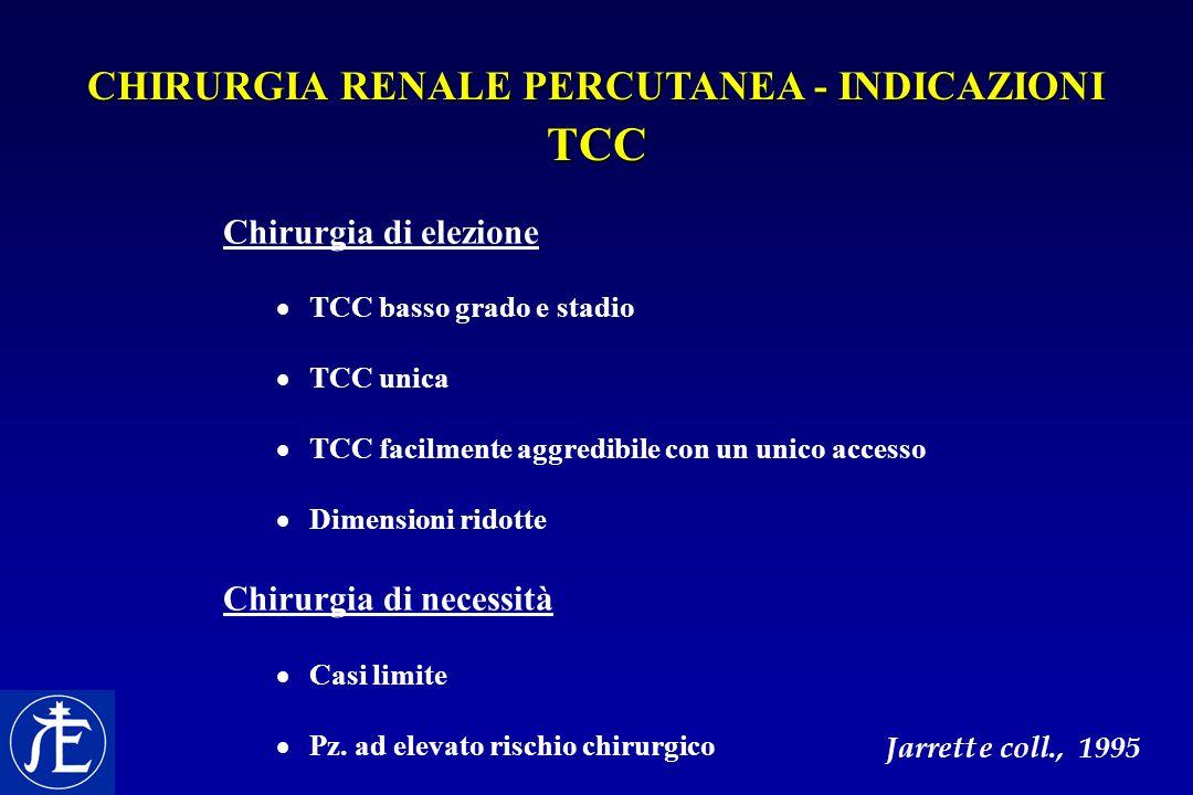 CHIRURGIA RENALE PERCUTANEA - INDICAZIONI