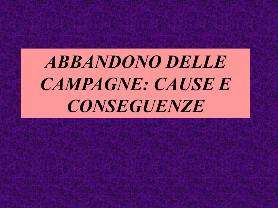 ABBANDONO DELLE CAMPAGNE: CAUSE E CONSEGUENZE