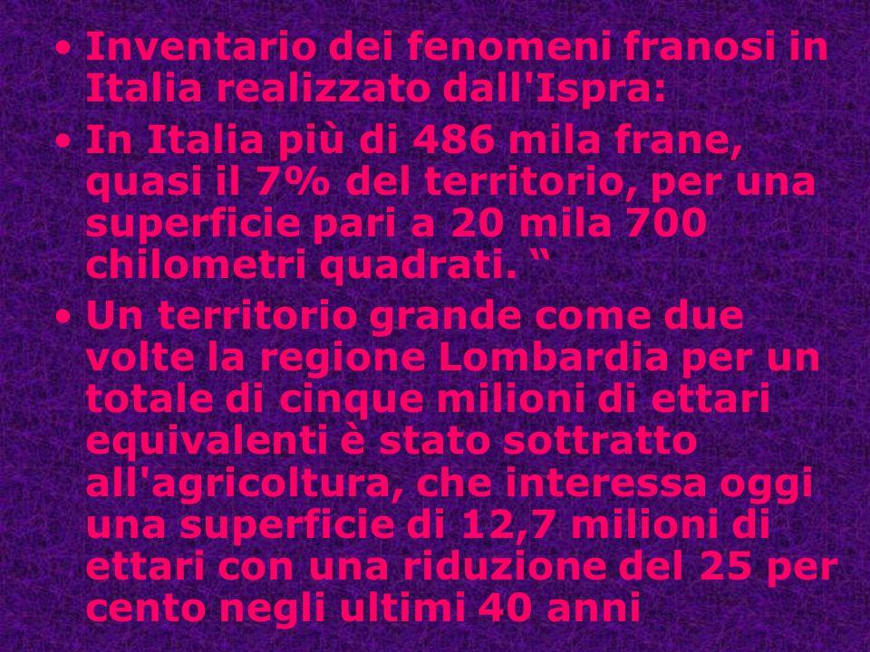 Inventario dei fenomeni franosi in Italia realizzato dall Ispra: