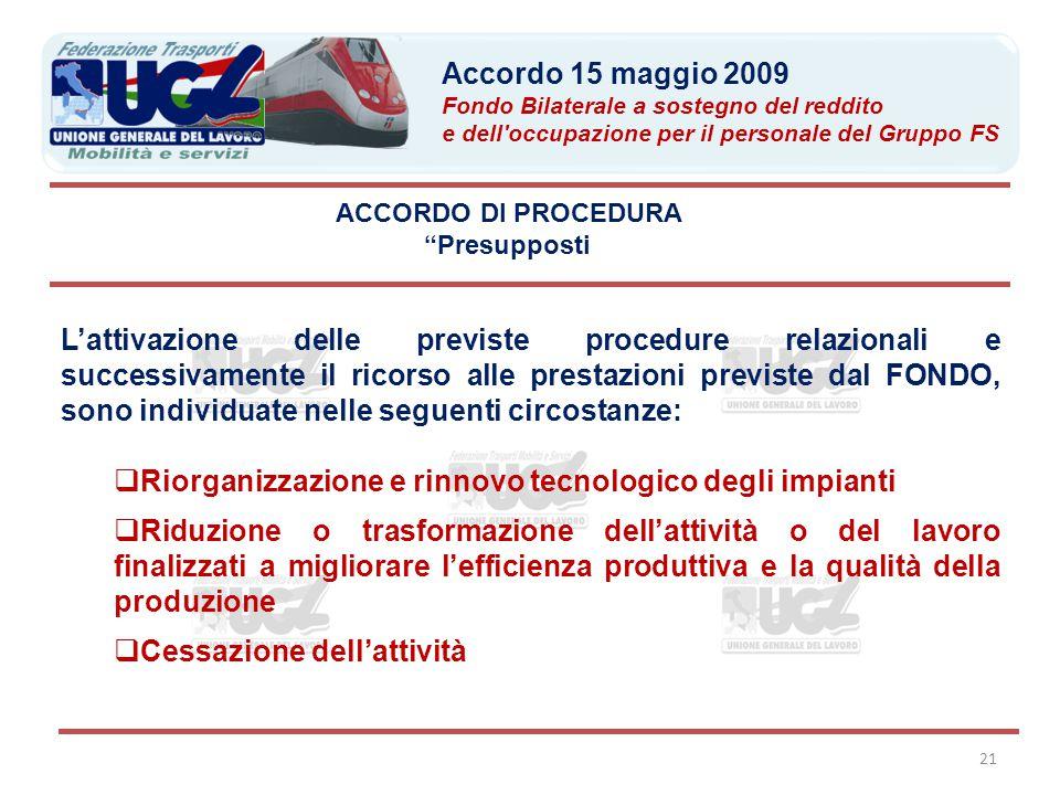 Riorganizzazione e rinnovo tecnologico degli impianti