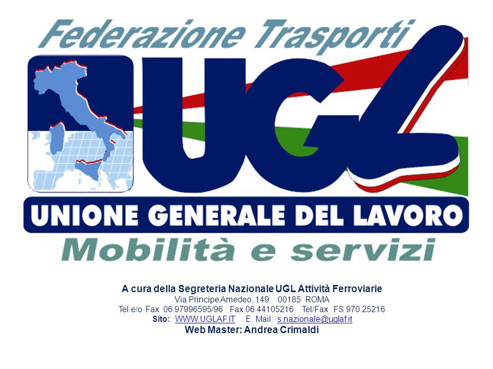 A cura della Segreteria Nazionale UGL Attività Ferroviarie
