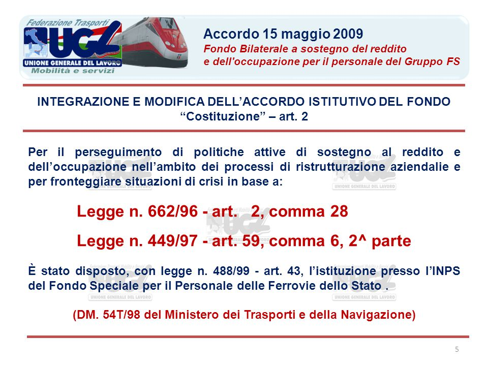 Legge n. 449/97 - art. 59, comma 6, 2^ parte