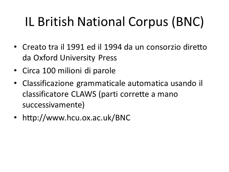IL British National Corpus (BNC)