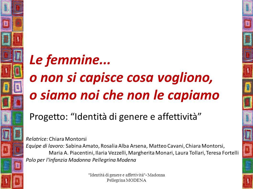 Identità di genere e affettività - Madonna Pellegrina MODENA