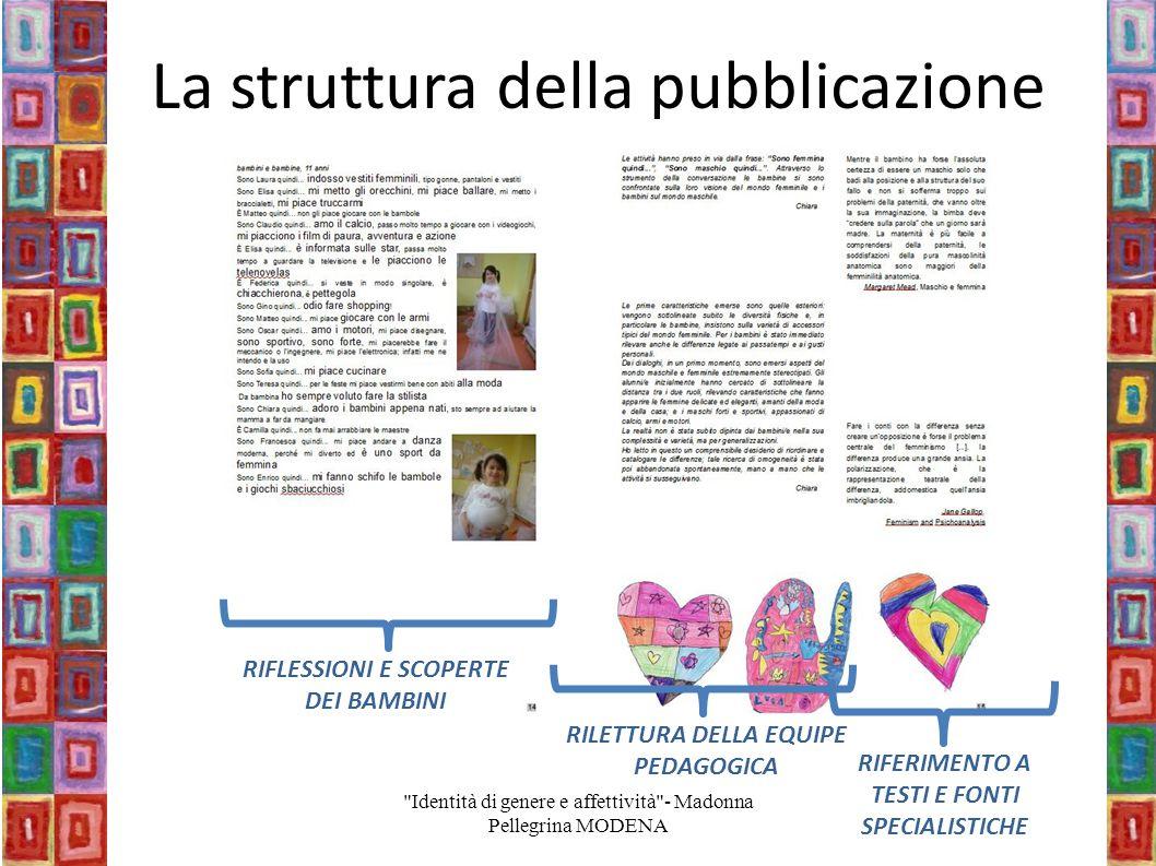 La struttura della pubblicazione