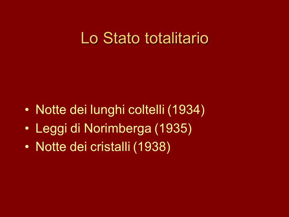 Lo Stato totalitario Notte dei lunghi coltelli (1934)