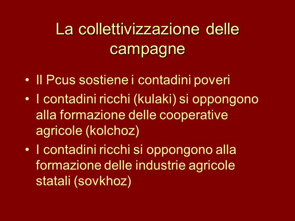 La collettivizzazione delle campagne