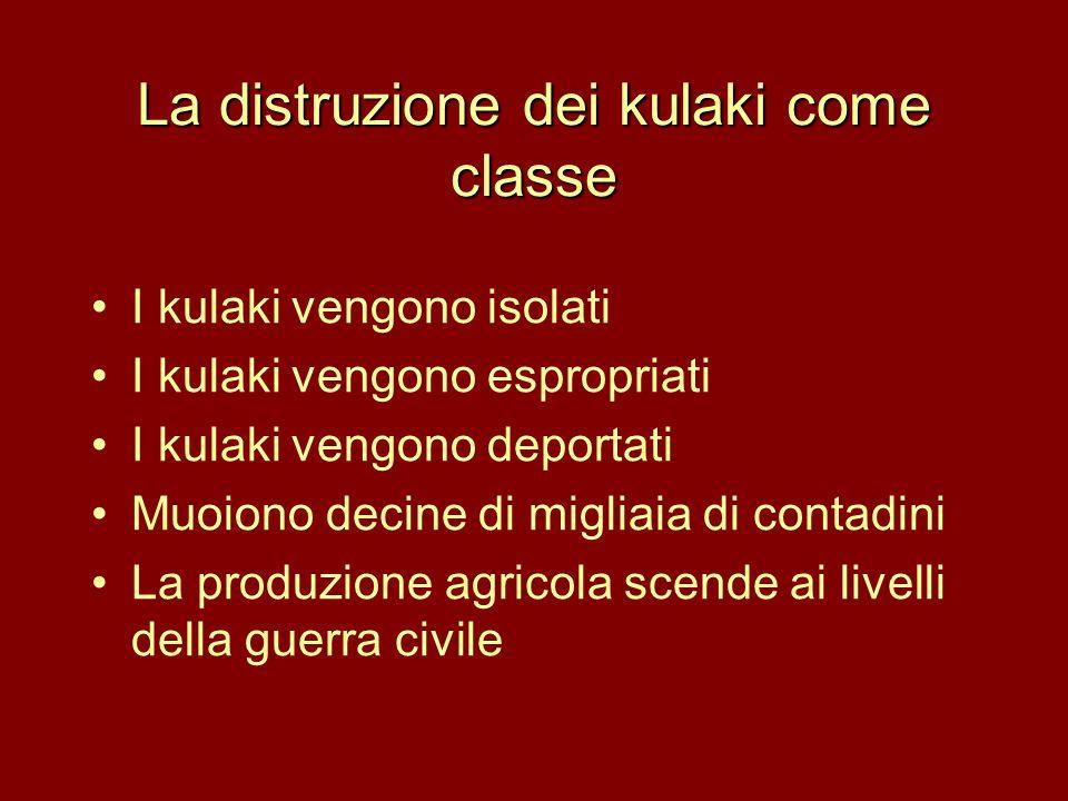 La distruzione dei kulaki come classe
