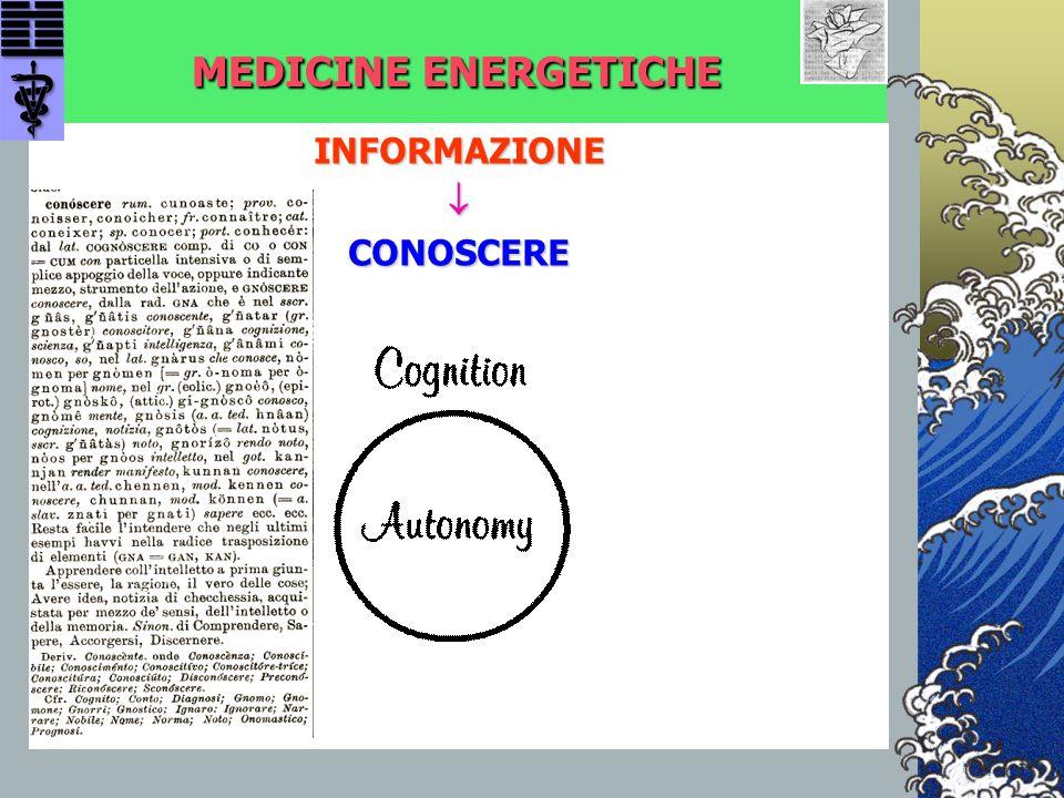MEDICINE ENERGETICHE INFORMAZIONE  CONOSCERE