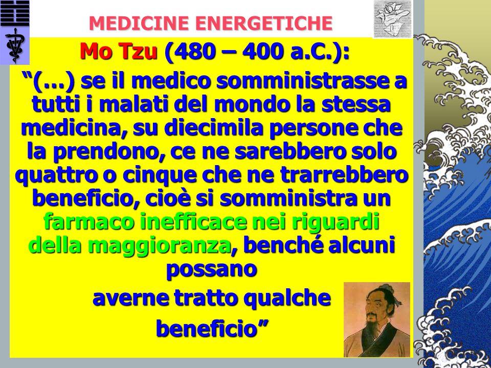 MEDICINE ENERGETICHE Mo Tzu (480 – 400 a.C.):