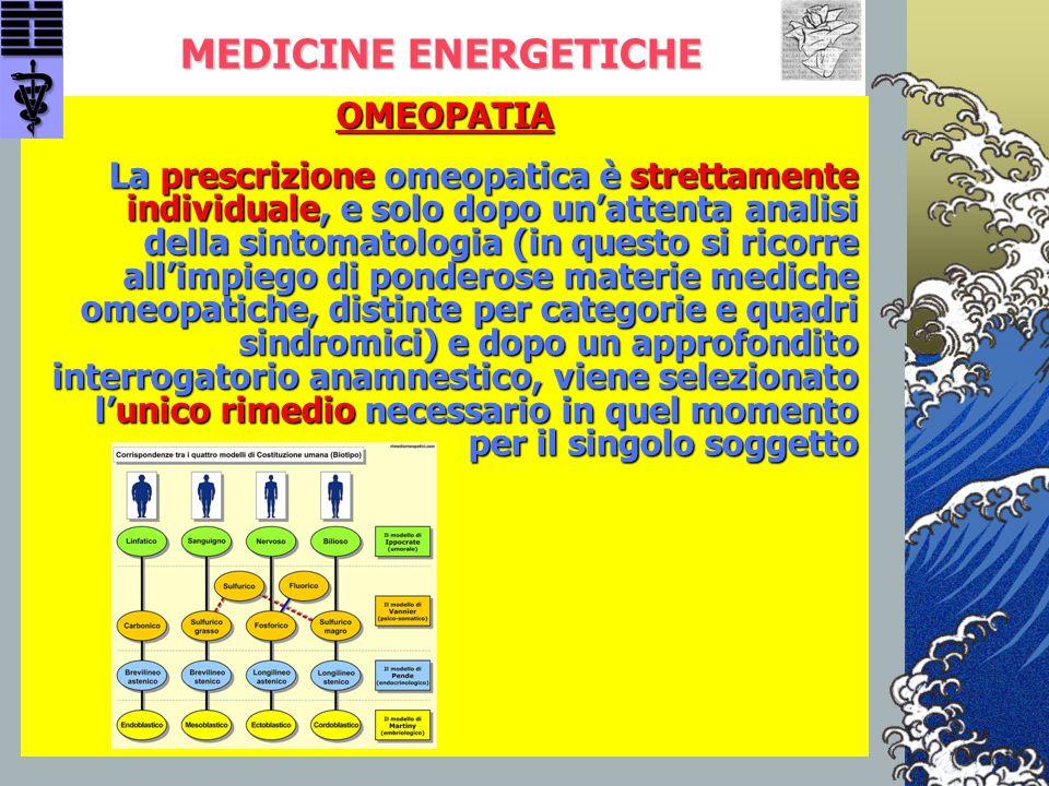 MEDICINE ENERGETICHE OMEOPATIA