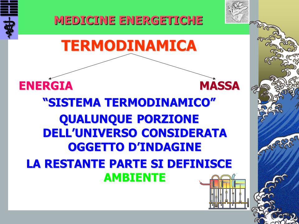 TERMODINAMICA MEDICINE ENERGETICHE ENERGIA MASSA