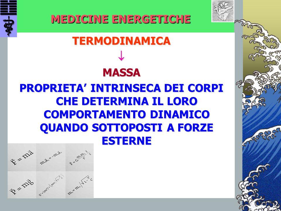 MEDICINE ENERGETICHE TERMODINAMICA.  MASSA.
