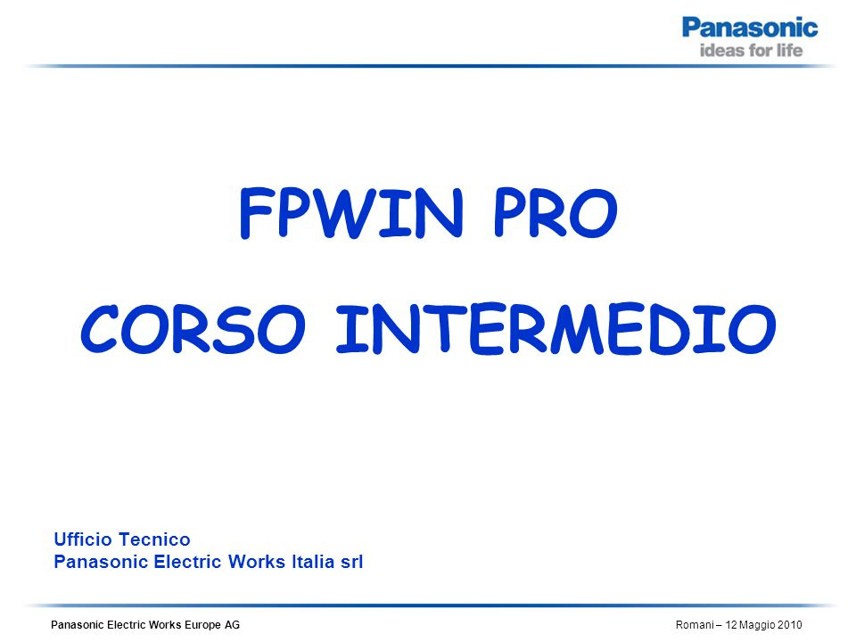 Ufficio Tecnico Panasonic Electric Works Italia srl