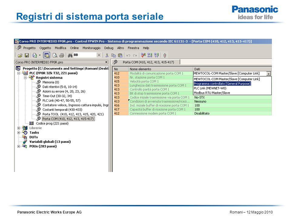 Registri di sistema porta seriale