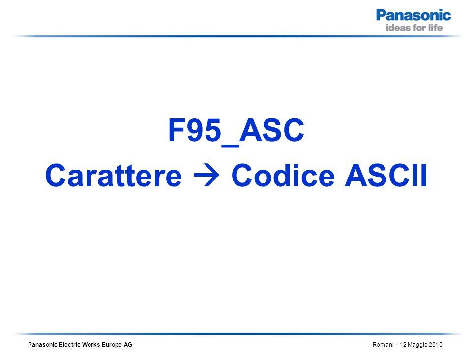 Carattere  Codice ASCII