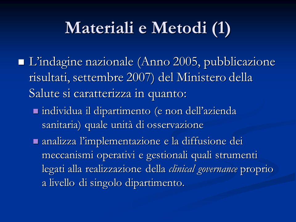 Materiali e Metodi (1)
