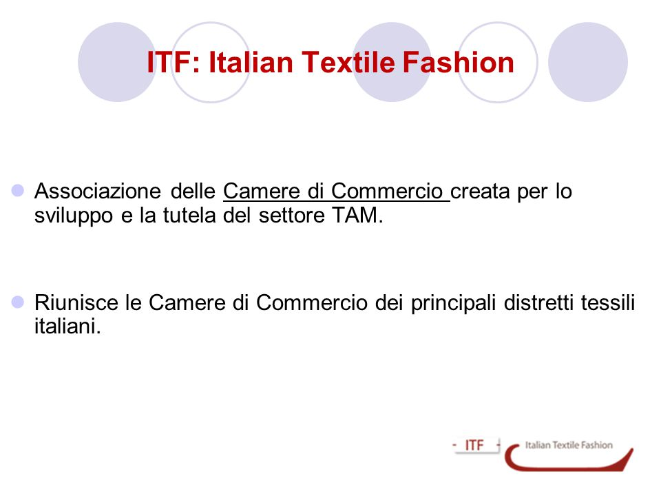 ITF: Italian Textile Fashion