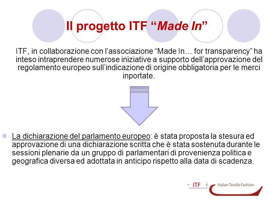 Il progetto ITF Made In