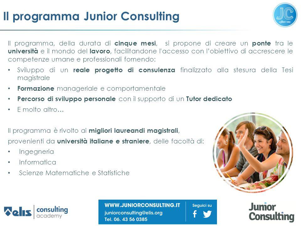 Il programma Junior Consulting