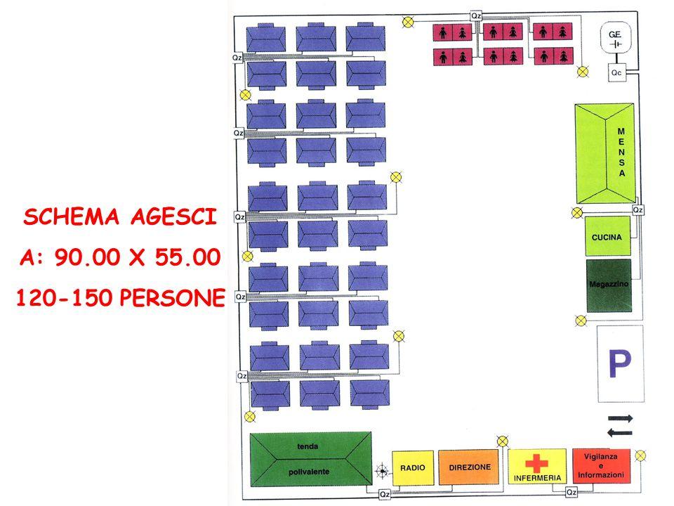 SCHEMA AGESCI A: 90.00 X 55.00 120-150 PERSONE