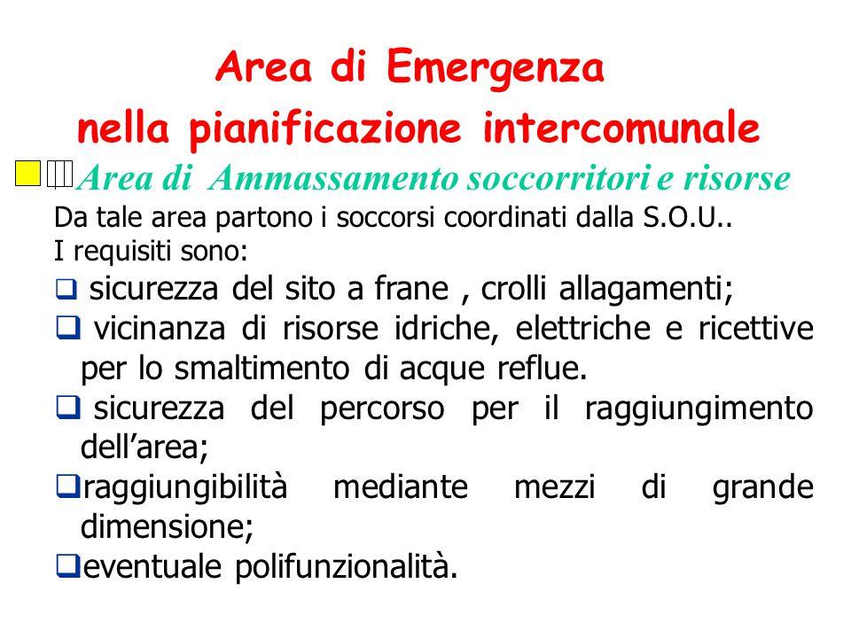 Area di Emergenza nella pianificazione intercomunale