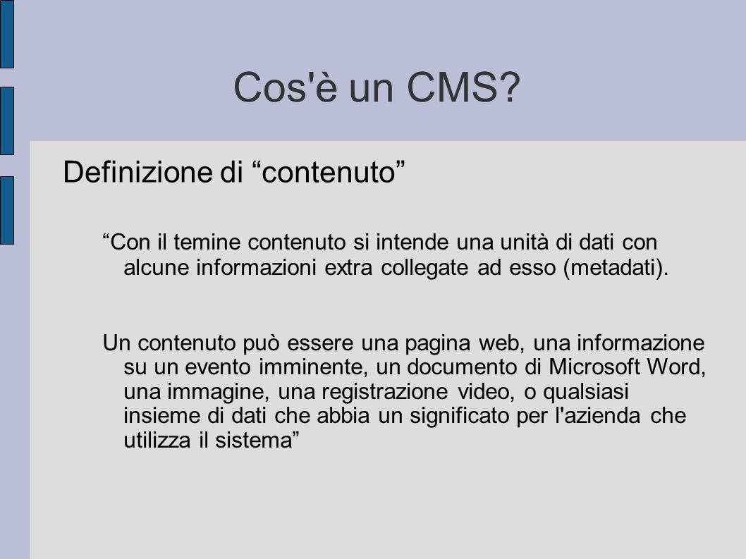 Cos è un CMS Definizione di contenuto