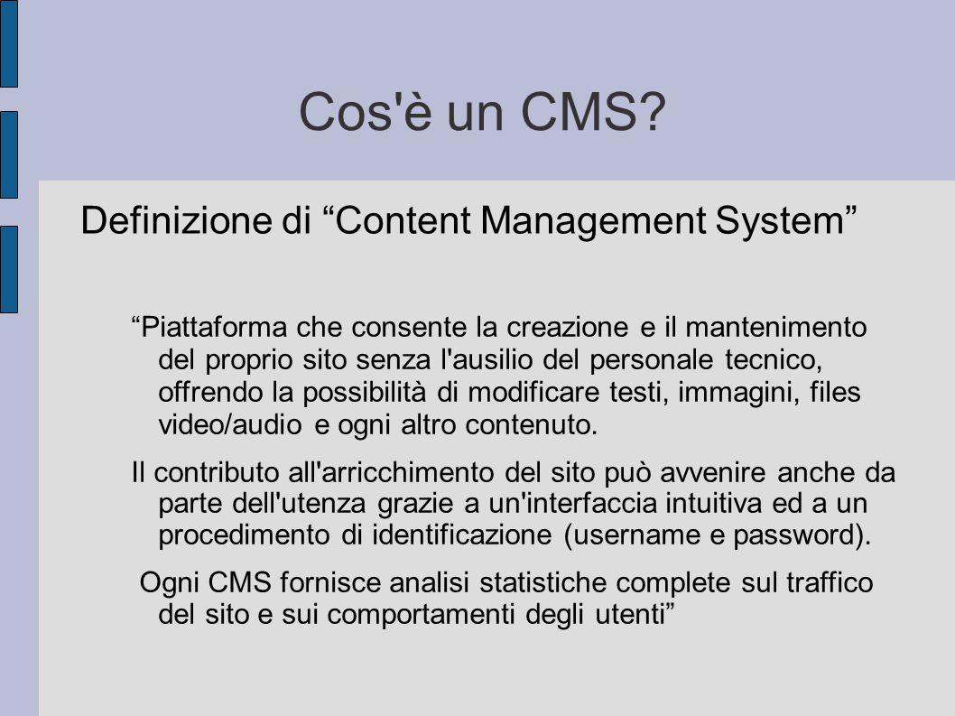 Cos è un CMS Definizione di Content Management System