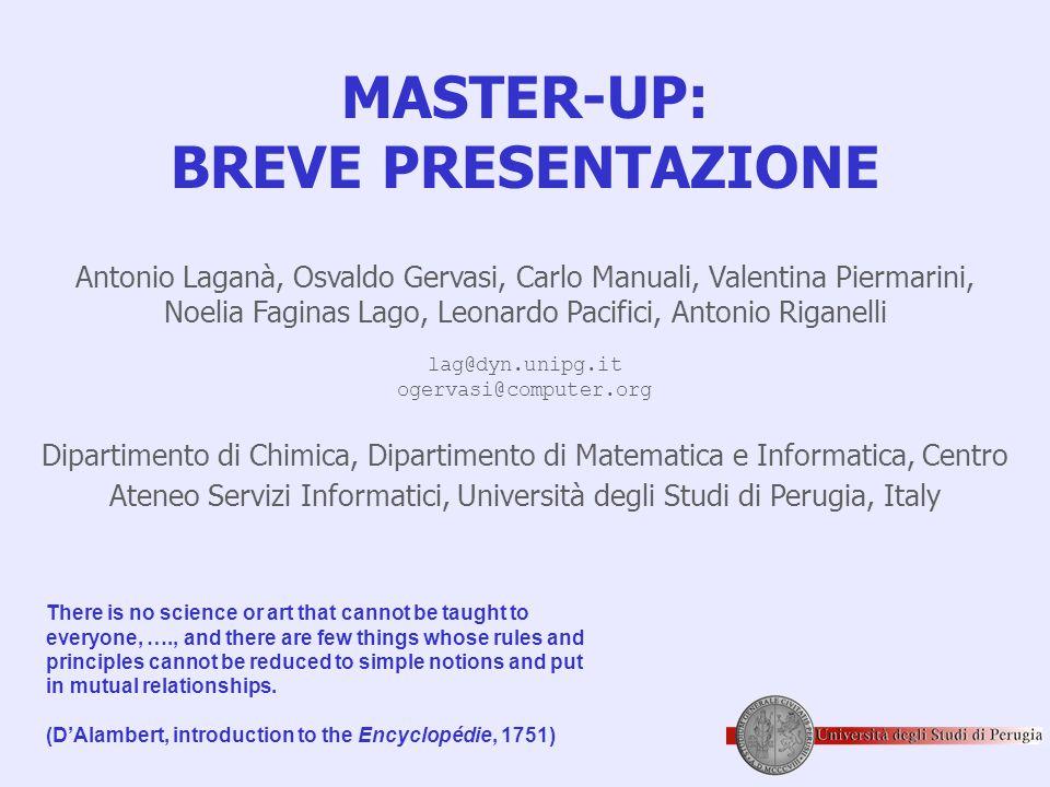 MASTER-UP: BREVE PRESENTAZIONE