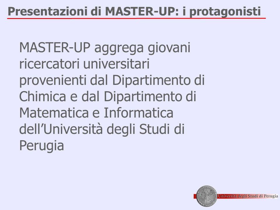 Presentazioni di MASTER-UP: i protagonisti