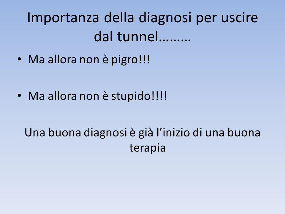 Importanza della diagnosi per uscire dal tunnel………
