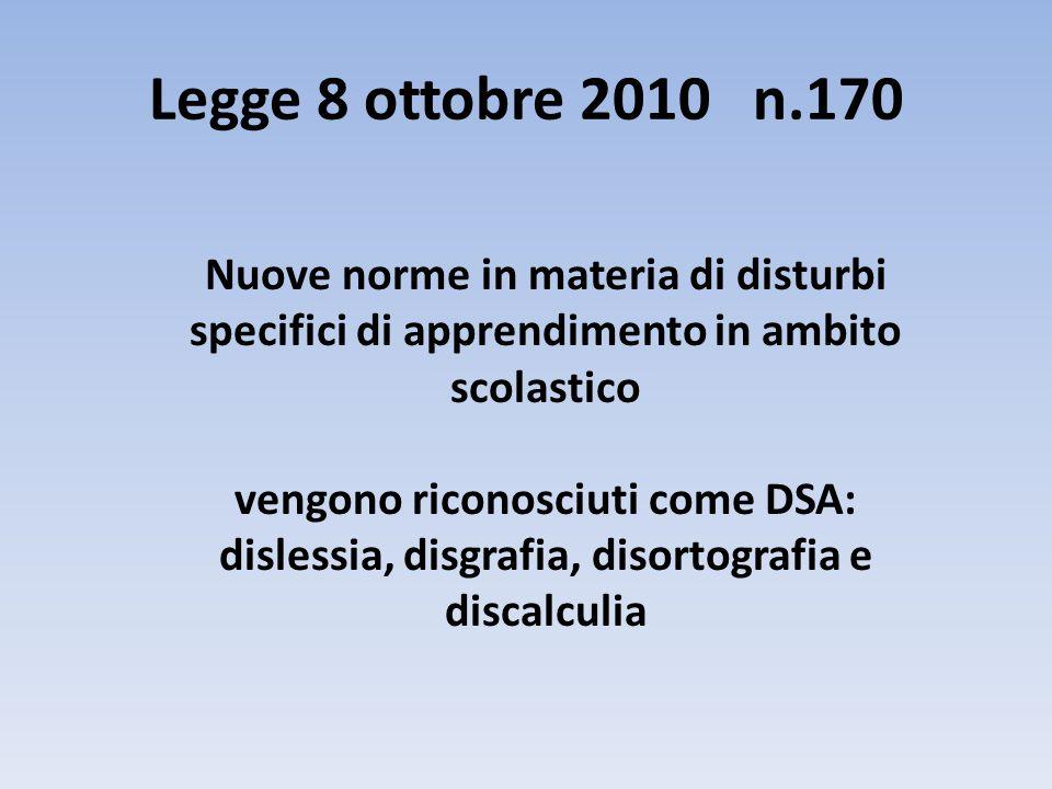Legge 8 ottobre 2010 n.170