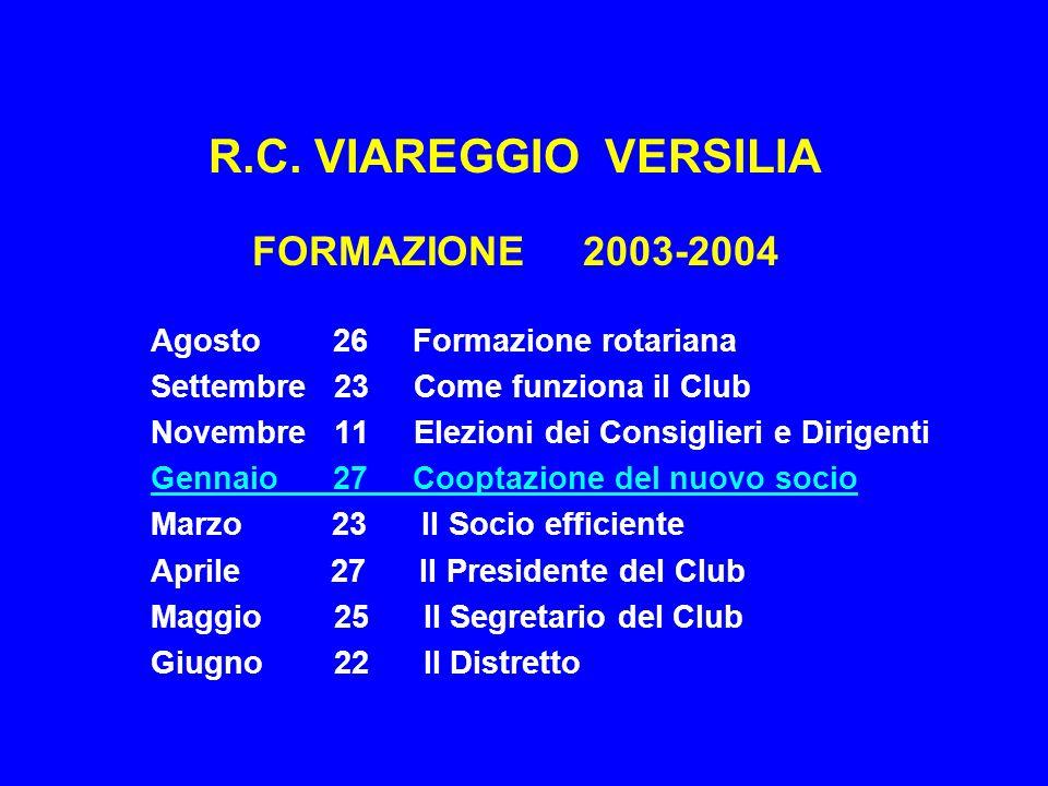 R.C. VIAREGGIO VERSILIA FORMAZIONE 2003-2004