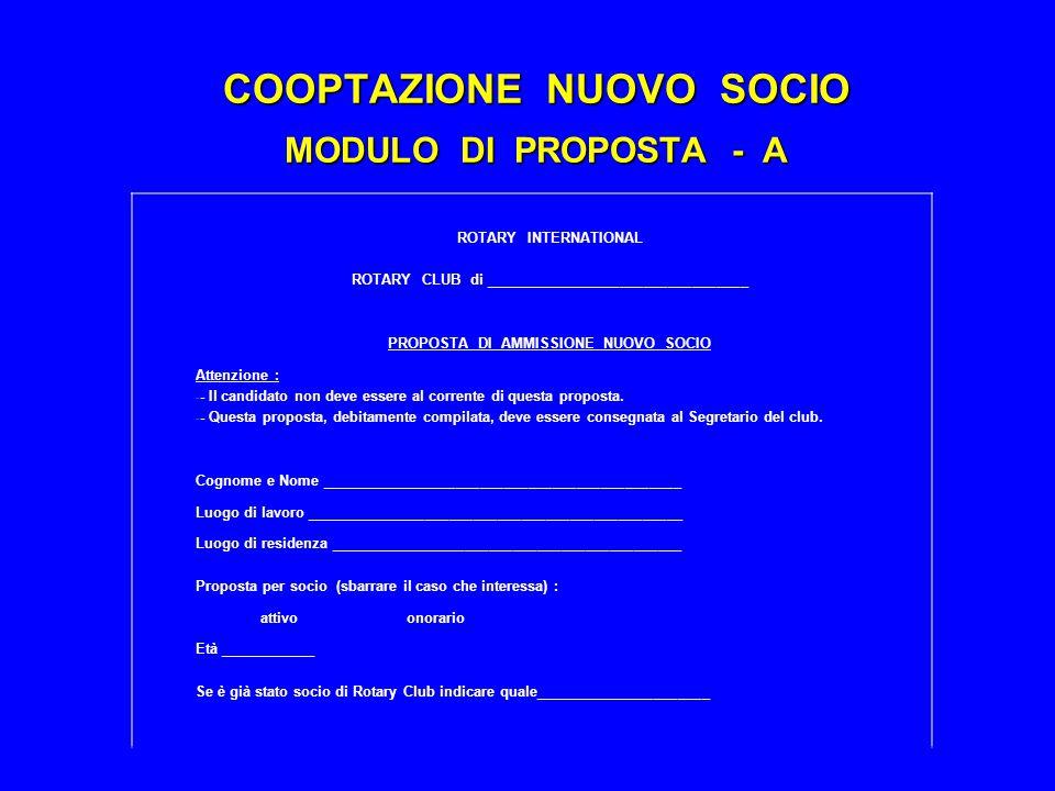 COOPTAZIONE NUOVO SOCIO MODULO DI PROPOSTA - A