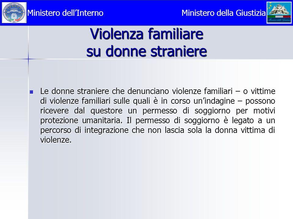 Violenza familiare su donne straniere