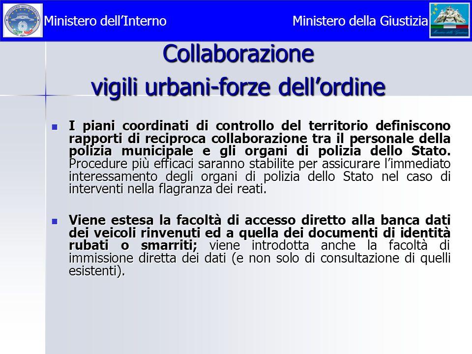 Collaborazione vigili urbani-forze dell'ordine