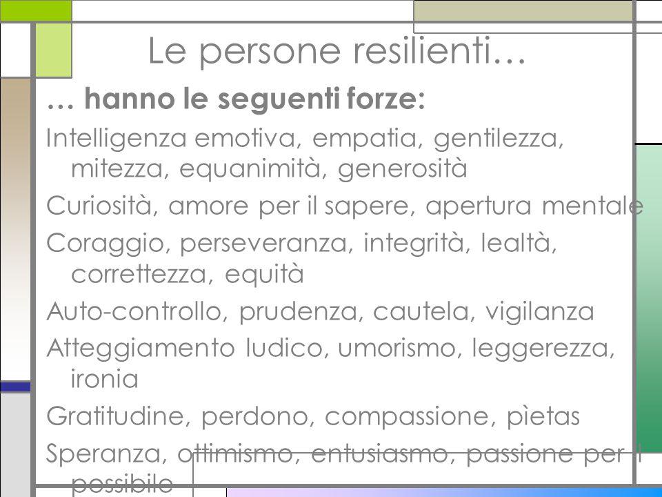 Le persone resilienti…