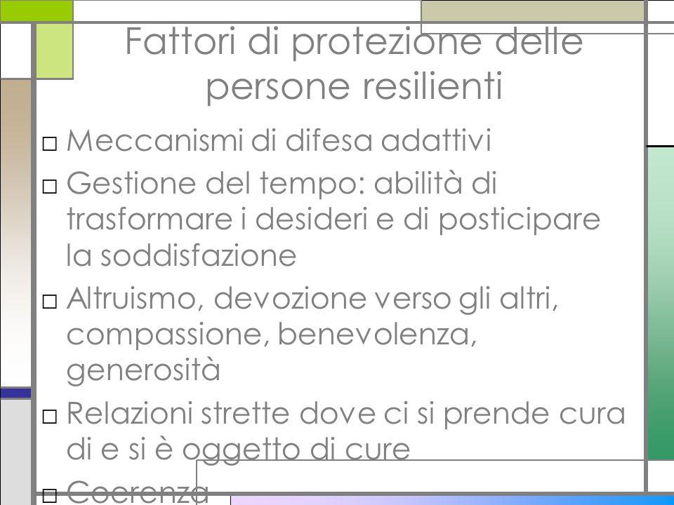 Fattori di protezione delle persone resilienti