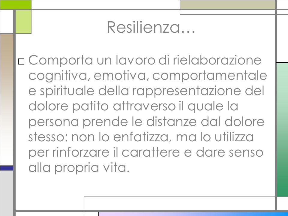 Resilienza…