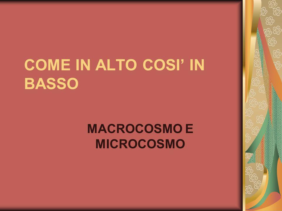 COME IN ALTO COSI' IN BASSO