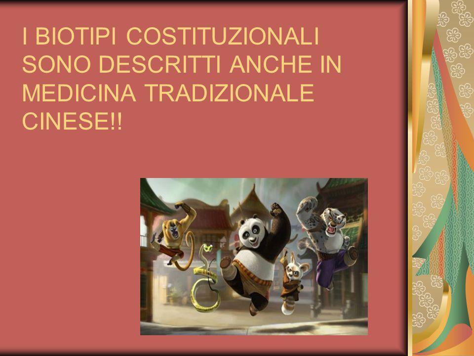I BIOTIPI COSTITUZIONALI SONO DESCRITTI ANCHE IN MEDICINA TRADIZIONALE CINESE!!
