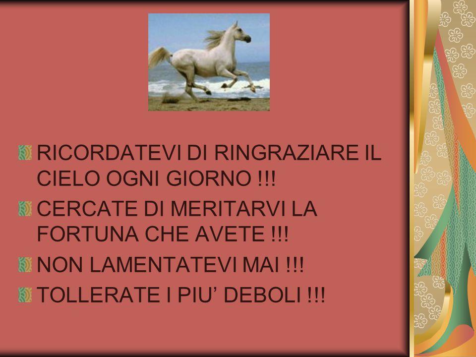 RICORDATEVI DI RINGRAZIARE IL CIELO OGNI GIORNO !!!