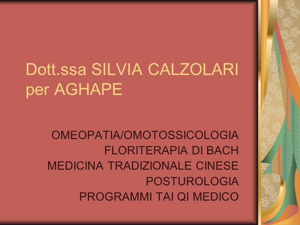 Dott.ssa SILVIA CALZOLARI per AGHAPE
