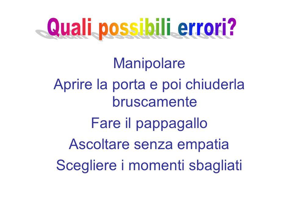 Quali possibili errori