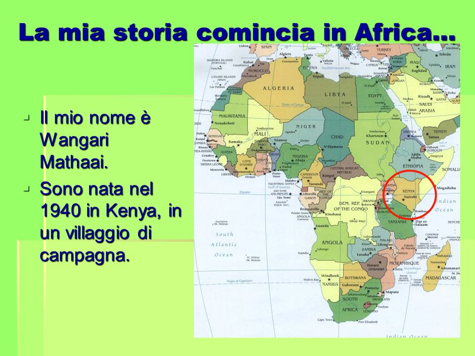 La mia storia comincia in Africa…