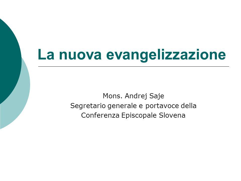 La nuova evangelizzazione