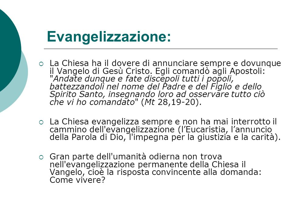 Evangelizzazione: