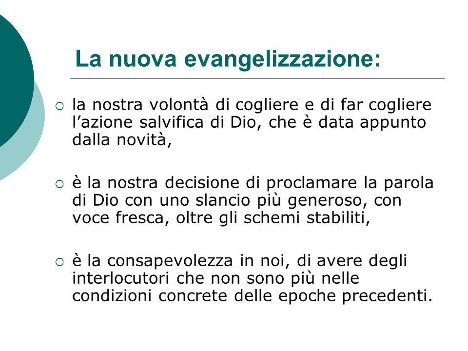 La nuova evangelizzazione: