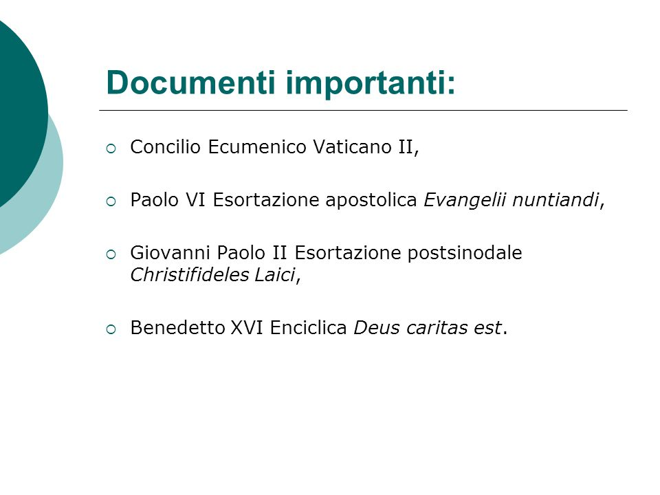 Documenti importanti: