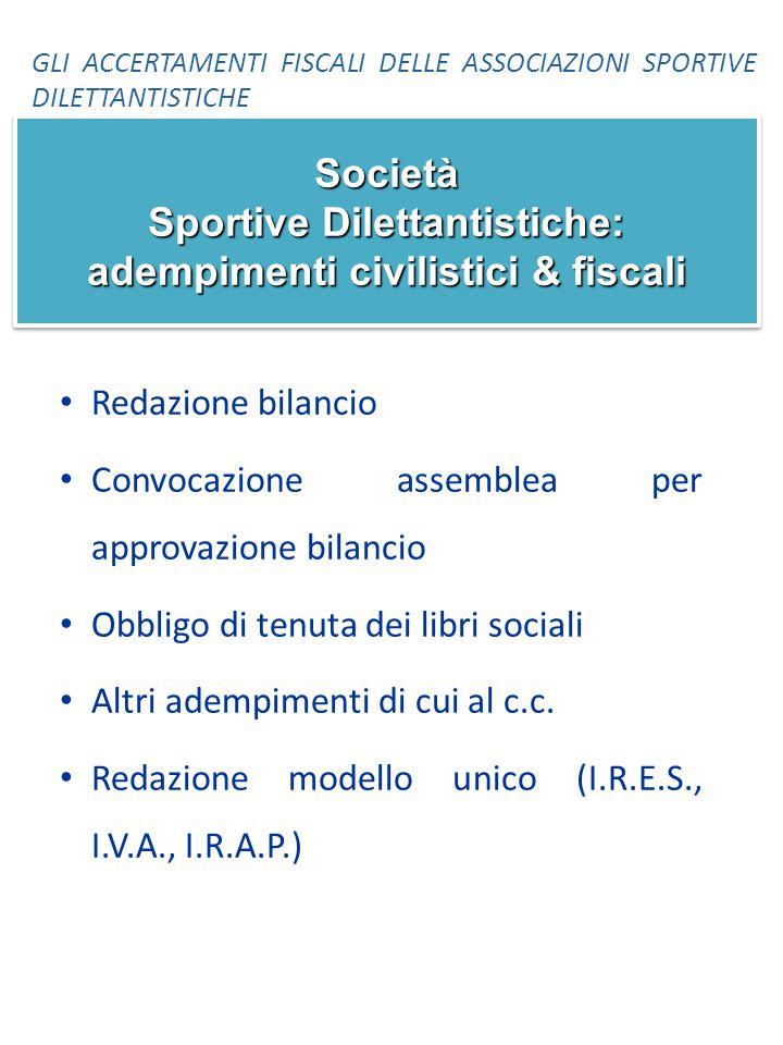 Società Sportive Dilettantistiche: adempimenti civilistici & fiscali